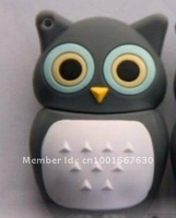 Wholesale grey owl model USB flash drive 4GB 8GB 16GB 32GB/fish/cat/key chain/high-grade metal gift company driver
