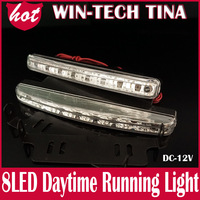 Free shipping! NEW !2*8PCS LED Auto LED Daytime Running light +18months warranty