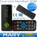100% original MINIX NEO G4 + 2.4G wireless Mouse and Keyboard Dual Core Android TV Stick HDD Player TV Box,SG Post freeshipping