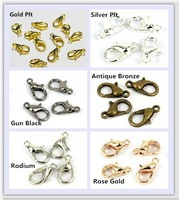 200pcs 10mm Zinc Alloy Jewelry Findings Lobster Clasp Hooks Vintage Jewelry Making Clasps AE00215