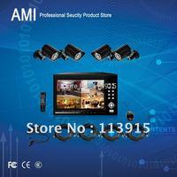 "4CH standalone DVR kits H.264 Full D1 with 7"" LCD CCTV kits"