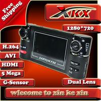 Original Edition High Quality With H.264 Dual Lens Car Dvr Camera Black Box Video Recorder F30 Freeshipping