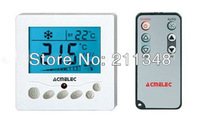 Large LCD TFAEY-307 Room Thermostat AC220V for fan coil and motorized valve conrol time display Free Shipping