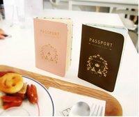 Contracted cortex passport holder - passport passport bag brown pink 1pc