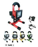 Wholesale 12pcs/lot High quality 10W LED Rechargeable Spotlights Mobile LED Spot light LED Emergency Light Car LED Floodlight