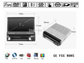 7 Inch Universal Car DVD Player,Bluetooth,TV,GPS Navigation,Stereo,Radio,1 Din Car MP4 Video Player