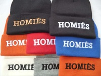 8 styles Hiphop HOMIES   Beanie Hats brand new mens snapback caps womens designer beanies caps  without MOQ Freeshipping