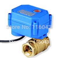 DC3-6V motorized ball valve 2 way  BSP 1/2'' brass valve 2/3/5 wires