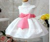 free shipping 2 color 4pcs/lot fashion bow white dress baby dress lovely girl dress hot sales