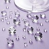 1000pcs Acrylic Clear 10mm 4 CT Diamond Confetti Wedding Reception Table Scatter Decoration+free shipping(China (Mainland))