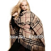 hot sale Cashmere wool large plaid male women's fashion autumn and winter thermal scarf cape,,R93