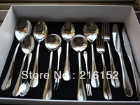 Free shipipng Stainless Steel Flat ware or cutlery,  knife fork spoon set for house and hotel, tableware set, cutlery