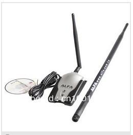 free shipping alfa adapter 2dBi&8dBi Antenna ralink 3070 150Mbps Luxury Alfa AWUSO36H Wireless Adapter(Grey Package)(China (Mainland))