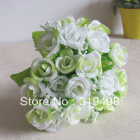 free shipping 10 bouquets  Rose bud  Artificial Silk Flower  Bouquet Home Wedding Party Decoration bride holding flowers