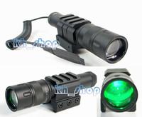 Powerful laser designator Adjustable Focus GREEN beam laser sight flashlight for night vision Hunting free shipping
