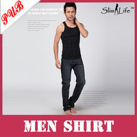 Men's Slimming Vest shirt-body Shapers slim n lift for Men 200pcs Free shipping
