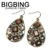 BigBing  jewelry fashion crystal dangle earring set Fashion jewelry earring good quality  nickel free shipping we305
