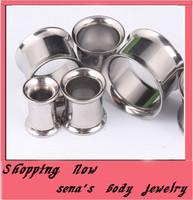 Free shipping, 100pcs/lot mix 5-16mm 7 size body piercing jewelry double flare  ear plug  tunnel ear cuff