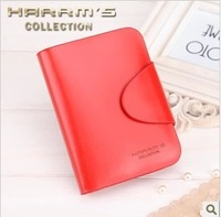 women's red wallet free shipping 2013 new arrival fashion genuine leather purse 27-1