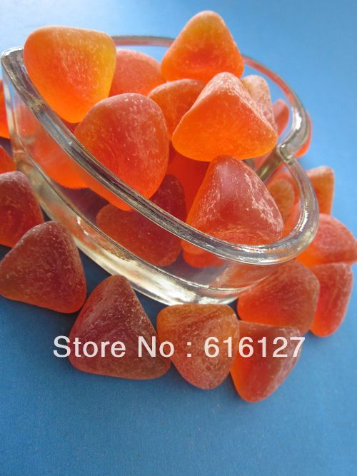 glass stones; orange;diamond(China (Mainland))
