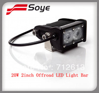 cree offroad led light bar adjustable 2W-20W 4x4 led bar 2''