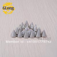 8*10mm Screwback Spikes Silver Metal Bullet Punk Leathercraft Accessories DIY Rivets studs Free Shipping 100pcs GZ026-10S+B3S