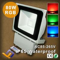 LED 80W RGB 85-265V Flood Landscape Lights Wash Light Outdoor Floodlight 16 Color Change remote controller