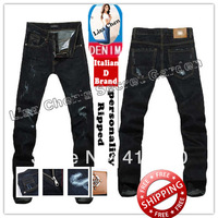 Size:28-36#KPR0895,Free Shipping,2013 Fashion Brand Men Jeans,Dark Color Low Waist Slim Casual Zipper Ripped Denim Pants