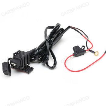 Waterproof Fused  USB Power Socket  DC +5V Output for Motorcycle Bike Boat Car