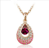 Min Order $10 Fashion Girl Wome Gift Rhinestone Pendant Necklace MN202 Magi Jewelry