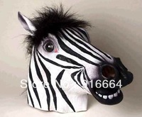 Creepy Zebra Horse Head Mask Head For Cosplay and Costome