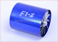 GAS Supercharger F1-Z Turbo Air Intake Fuel Saver Fan  Double Propeller - Blue