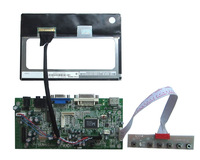 HDMI+DVI+AV+VGA  LCD main board+IPS 7 inch LCD panel 1280*800 +LVDS cable +OSD keypad with cable