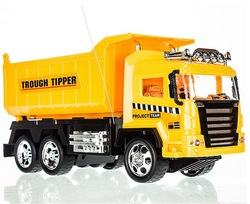 Free Shipping big size RC car toys for children Remote control tipper truck best gift for kids(China (Mainland))