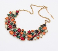 New 2014 Europe&America Exaggerated SPX1663 Fashion luxurious geometry unique crystal bib necklace