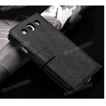 Wallet Style Case with Card Holder,Cow Leather Case with Bill Site For Samsung SIII I9300 Airmail Free Shipping+Screen Protector