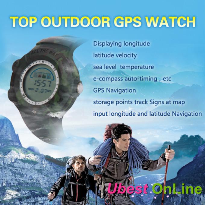 merk helemaal outdoor waterdichte gps horloge sport horloge gps tracker kompas readier automatische temperatuur snelheid navigatie(China (Mainland))