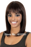 Light Yaki Straight Mid-length Remy Human Hair Wig--Free Shipping