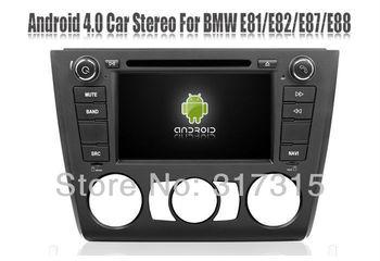 Android 4.0 AutoRadio Car DVD Player for BMW 1 Series E81 E82 E87 E88 with GPS Navigation Stereo Radio Bluetooth TV USB 3G WIFI