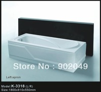 Skirt Side Bathtub K-3318 Two Apron White Acrylic Factory Price Manufacturer Cheap Sanitary Ware