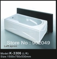 White Acrylic Apron Skirt Side Bathtub K-3306 China Manufacturer Wholesale Price Bast Sanitary Ware