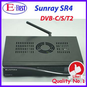 Sunray 800se sr4 sunray4 Triple Tuner Internal Wifi Satellite tv Receiver 400mhz CPU Enigma2 Linux OS 3 in 1 Tuner DVB-S/C/T2