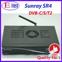 Sunray 800se sr4 Triple Tuner Wifi sim2.10 Satellite tv Receiver 400mhz CPU Enigma2 Linux OS 3 in 1 Tuner DVB-S/C/T2 sunray sr4