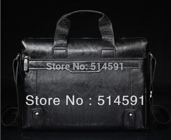 2013 Promotion Leather Man Bag Briefcase For Men Bags Men Leather Messenger Bag