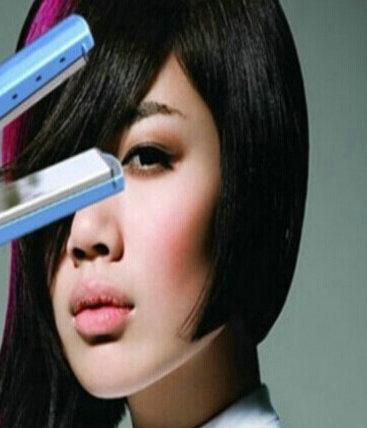 Retail1PC Ship by HongKong Post Drop ship Hair straightening 11/4 blue (No retail package) Straightening Irons(China (Mainland))
