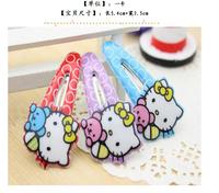 Free shipping Wholesale big 100pcs Children hair accessories Fashion Cartoon Hello Kitty Hair Clip baby girl hairpins