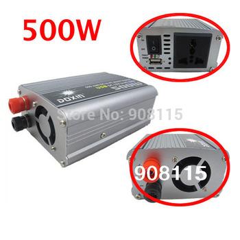 New DC12V to AC 220V 500W USB Car Power Inverter  Adapter