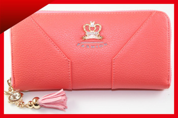 Women Quality Crown Purse Wristlet Clutch Lady Wallet Zipper Around Card Slot Bag Evening Party Prom Outlets Gift BB414