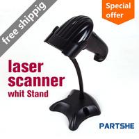 Wholesale 3100 laser Bar Code Scanner USB Reader Barcode USB Holder Stand Free Shipping