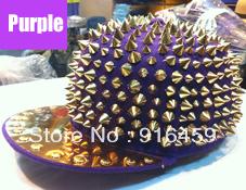 Promotion Free shipping Christmas quality guranteed 16 Colors PUNK Party baseball snapback Visors Spike studs Cap hats